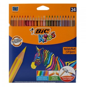 Kredki BIC 24-kol Eko Evolution Stripes