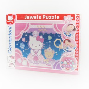 "CLEMENTONI Puzzle Jewels 104 el. z ozdobami ""Hello Kitty"""