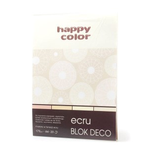 Blok Deco Ecru - A4 Happy Color
