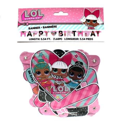 Baner Z Napisem Happy Birthday Lol Surprise 168 M Girlandy