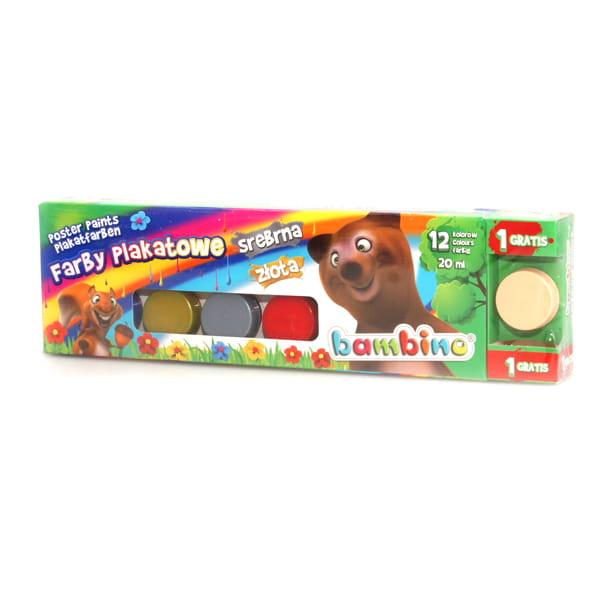 Farby Plakatowe Bambino 12 Kolorow 20ml Farby I Inne Akcesoria Do