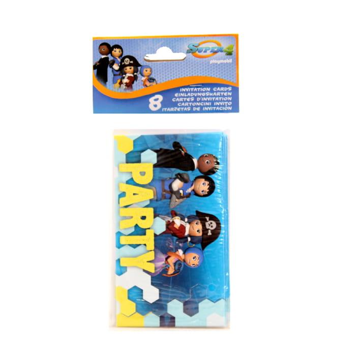 Zaproszenia Urodzinowe Playmobil 8 Szt Zaproszenia